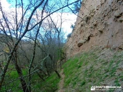 Cárcavas del Río Perales - Sierra Oeste de Madrid; rutas senderismo comunidad de madrid